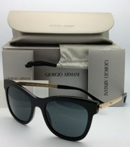 Auténtico Giorgio Armani Gafas de Sol Ar 8011 5017/87 Negro y Dorado con... - $401.16