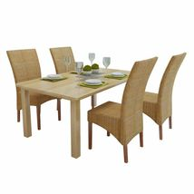 vidaXL 2/4/6x Dining Chair Rattan Brown Handwoven Kitchen Furniture Home Seat image 8