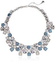 Betsey Johnson Women's Blue La La Multi Stone Cluster Necklace - $74.36