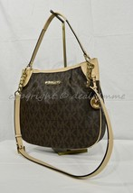NWT! Michael Kors Jet Set Large Convertible Shoulder Bag in Signature Brown - $219.00