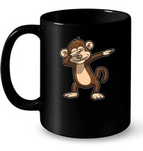 Zoo Ceramic Mugs  Dabbing Monkey Ceramic Mug Funny Monkey DAB Ceramic Mu... - $13.99+