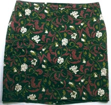 Ann Taylor Loft Women's Pencil Skirt Size 14 Solid Floral Black Red White - $19.80