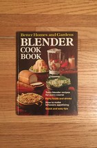 Vintage 1971 Better Homes and Gardens Blender Cookbook- hardcover