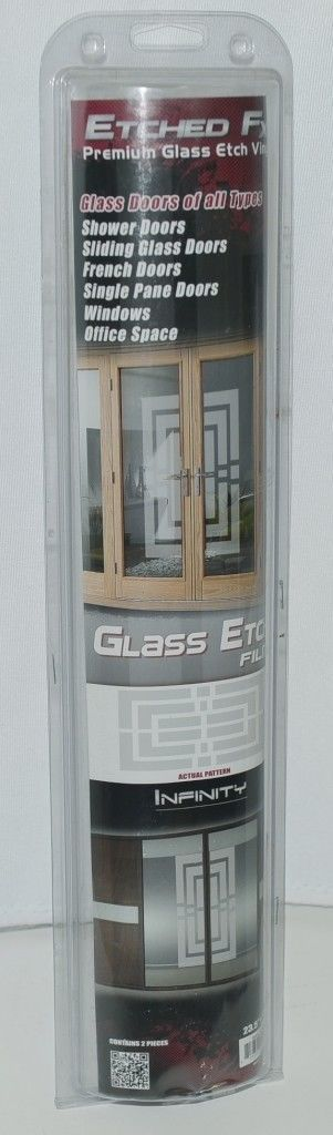 Illusions Inc GE1406 Etched FX Premium Glass Etch Vinyl Infinity