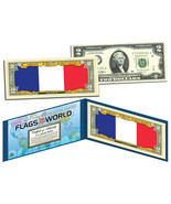 FRANCE - Flags of the World Genuine Legal Tender U.S. $2 Bill Currency - €12,52 EUR