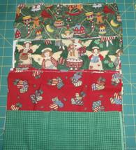 "4 Piece Bundle 12"" x 22"" each 100% Cotton Quilting Christmas Fabric Trad... - $5.94"