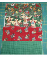 "4 Piece Bundle 12"" x 22"" each 100% Cotton Quilting Christmas Fabric Trad... - $5.94"