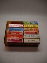 Vintage Mini Card Sets 11 Whitman Hoyne Various Games Designs Red Plastic Box - $45.70
