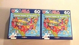 Cra-Z-Art United States of America Map with State Capitals Jigsaw Puzzle... - $19.79