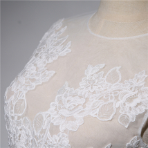 Wedding Lace Vest Tops Sleeveless Deep V Lace Tank Tops White Lace Bridal Tops image 3