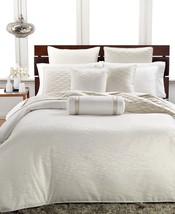 Hotel Collection Woven Texture FULL / QUEEN Duvet Cover Ivory - $113.85