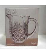 Dublin Shannon Crystal Pitcher Scalloped Rim Fan Pineapple Design- NIB - $21.99