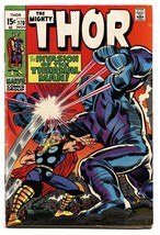 THOR #170 comic book 1969 MARVEL COMICS THERMAL MAN JACK KIRBY FN - $40.35