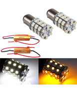2X 1157 Switchback White Amber Dual Color LED Bulb Turn Signal Light + R... - $9.37