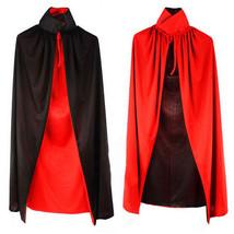 Wizard Black Cloak Robe Vampire Adult Kids Costume Halloween Costume  - $11.62