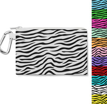 Zebra Print Canvas Zip Pouch - $15.99+