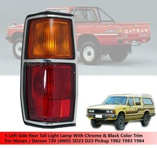Left Tail Light Lamp Chrome Black Trim For Nissan Datsun 720 4WD 1982 - ... - $59.15