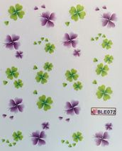 Bang Store Nail Art Water Decals St. Patricks Day Four Leaf Clover Kawaii - $3.67