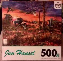 New sealed Sure-Lox JIM HANSEL 500 piece jigsaw puzzle HARVEST RINGNECKS - $8.99