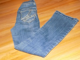Girl's Size 8 Cherokee Denim Blue Jeans Bootcut Boot Cut Embroidered Poc... - $15.00