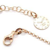 Silver 925 Bracelet Laminated Gold Pink le Favole Star Ag-905-br-63 image 4