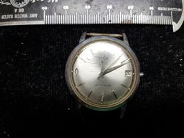 Vintage 17 Jewel German Elgin Automatic Date Watch Runs For You To Missing Crown - $91.92