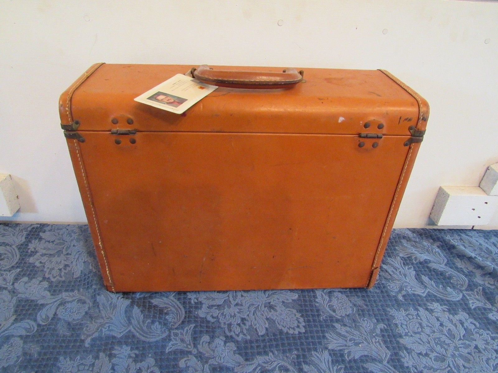 VTG Suitcase Briefcase Winship Luggage Salesman Leather Business Travel Case