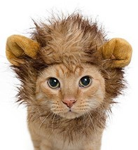Lion Mane Costume for Cats & Dogs – FREE Feathered Catnip Toy Included C... - $20.47