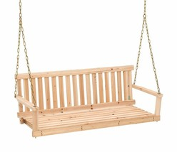 Jack Post Jennings Traditional 4-Foot Swing Seat With Chains In Unfinish... - $90.99