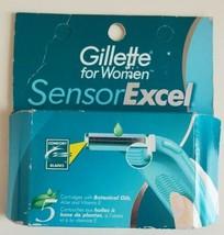 Gillette Sensor Excel for Women Razor Blade Cartridges 5 Pcs Discontinue... - $39.60