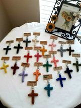 Cotton Rope Cross Keychain, Set of 5 Cross Keychain, Gift, Religious Key... - $19.99