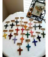 Cotton Rope Cross Keychain, Set of 5 Cross Keychain, Gift, Religious Keychain, - $19.99