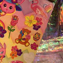 Vintage 90s Lisa Frank Incomplete Fullsize Sticker Sheet Easter Bunnies  image 3