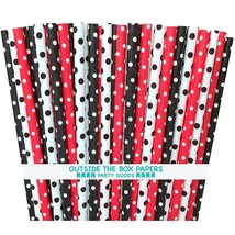 Ladybug Theme Baby Shower or Birthday Party Paper Straws; Minnie Mouse S... - $103,88 MXN