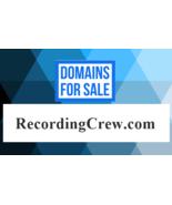 NR Domain Auction / RECORDING CREW .COM / Studio Producing, Mixing / Nam... - $57.23