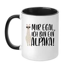 TassenTicker Egal, Ich Bin Ein Alpaka!'' - Hochwertige Qualität - Kaffee... - $21.88