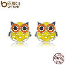 Cute Owl Animal Stud Earrings by BAMOER - $15.82