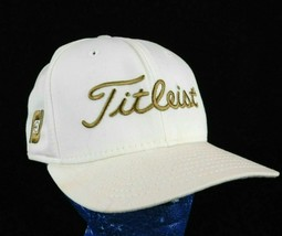 Titleist New Era Footjoy White Baseball Cap Hat Sz 7 1/4 Box Shipped USA - $16.99