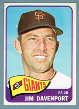 1965 Topps #213 Jim Davenport San Francisco Giants SS-2nd Baseman Baseball Card - $2.00
