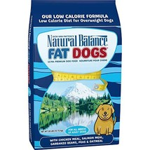 Natural Balance Fat Dogs Low Calorie Dry Dog Food, Chicken Meal, Salmon Meal, Ga - $90.17