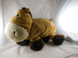"STUFFIES adorable ""Dash"" the horse brown soft stuffed animal with pocket... - $14.84"