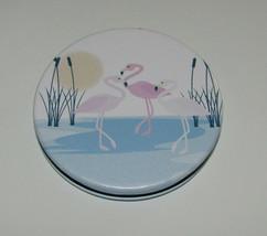 Pink Flamingo Compact New Purse Size Water Sunshine Regular & Magnify - $13.57