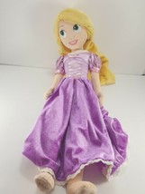 "Disney Store Tangled Rapunzel Plush Doll Stuffed 20"" Princess Purple Dress - $16.82"