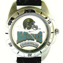 Jacksonville Jaguars NFL, Fossil Unworn Mans Vintage 1995 Leather Band Watch $79 - $78.06
