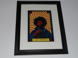 "Framed Jimi Hendrix Psychadelic Mini-Poster, 14"" by 17"" 1969 Era Print - $27.16"