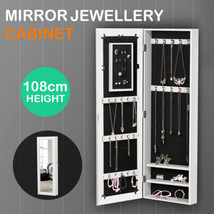 Mirrored Jewelry Cabinet Armoire Organizer Stor... - $56.99
