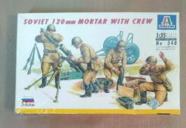 1983 Zvezda Italeri Soviet 120mm Mortar with Crew 1:35 Model Kit #348 New - $19.99
