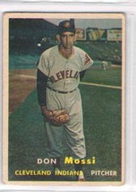 1957 Topps #8 Don Mossi   Cleveland Indians  - $11.87