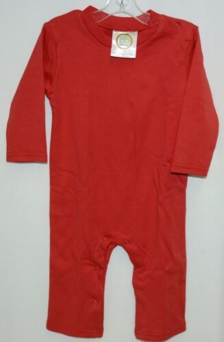Blanks Boutique Boys Long Sleeved Romper Color Red Size 12 Months