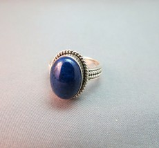 Suarti BA Indonesia Sterling Silver Ring Blue Lapis Lazuli Size 7 ECU 5... - $59.39